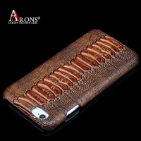 Luxury croco real leather back cover case for iphone 6