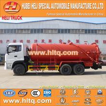 Dongfeng 6 x 4 caminhão de sucção de esgoto com bomba de vácuo vácuo 16000L CUMMINS engine B210 33 210hp