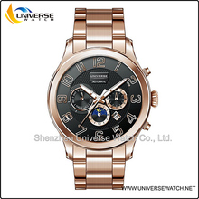 2014 alibaba cn hot sale rose gold tone automatic watch UN5083G-1