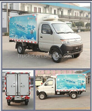 China made hot selling refrigerated trucks trailers 4*2 changan refrigerator truck Direct Factory refrigerator trailer