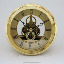 103mm metal skeleton clock Antique Style Clocks Senior high quality gift clock insert