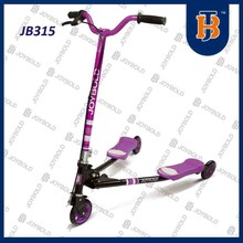 Colorful brake on front wheel scooter steel, 3 wheel kick scooter OEM acceptable