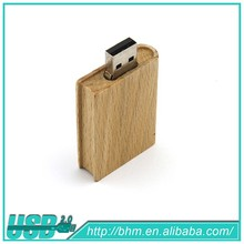 Natural Wooden Usb Flash Drive Rectangle Disk Drive ,engraving logo wood usb flash drive