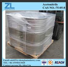 Cas. : 75-05-8, Acetonitrile HPLC grado solvente