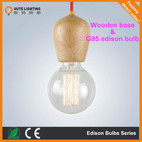 Edison Light Bulb Industrial Chandelier with fabric cord pendant fitting