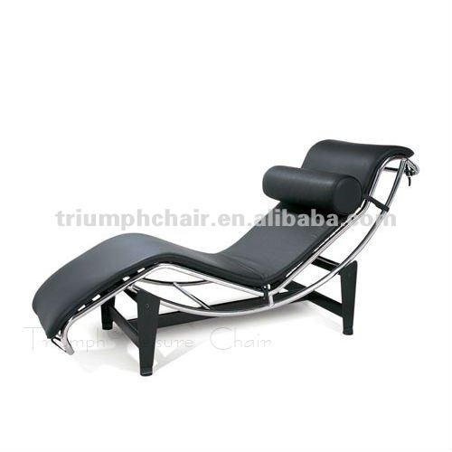 Leather Le chaise lounge chair LC4