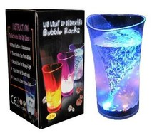 370ML Glass vase Led Light Plastic Cup for Flashing Cup for Festive Gift or Bar Party