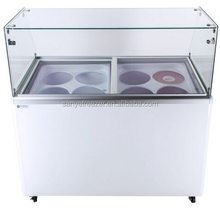 Electric power source and chest/deep freezer chest type nice cream