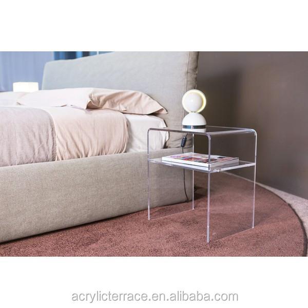 Simple et l gant clair transparent plexiglas acrylique - Table de chevet en plexiglas ...