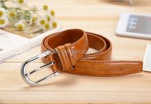 wholesale fashional custom mens snake skin leather belts with plastic belt buckles