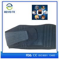 Adjustable neoprene waist trimmer belt with hot cold pack pocket