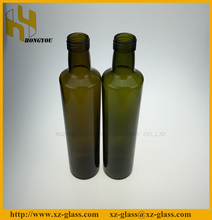 All volume size glass olive oil bottle with aluminum cap in stock