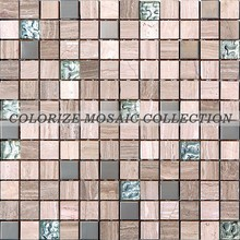 Factory price good quality Glass metal stone mosaic tile ( GY026)