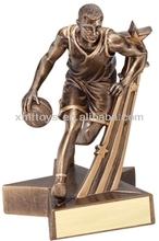 custom new design resin sports trophy resin trophy NBA basketball trophy