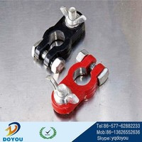 Magnesium aluminum alloy one black one red Positive and negative battery terminal