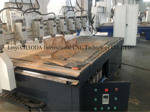 Multi- jefes de madera del cnc talla de la máquina para sofá cama silla haciendo con el certificado del ce