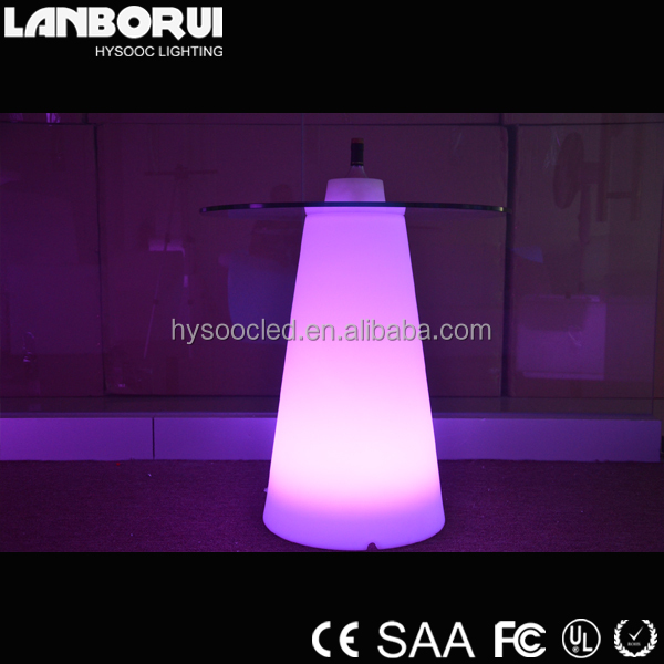 2015 New Arrival LED Cocktail Table LED Glow Light Up Bar Table For nightclub