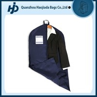 Travel Promotional suit cover foldable garment bag with ID card holder