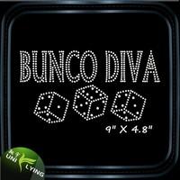 Bunco custom transfers hotfix rhinestone t-shirt motif