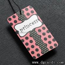 Clothing/Garment/Shoes Swing Tag Paper China Hang Tag