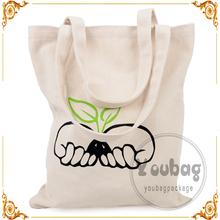 design option cheap wholesale fashion printed Cotton Canvas Tote shopping Bag