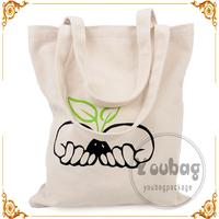 design option cheap wholesale fashion printed Cotton Canvas Tote shopping Bag
