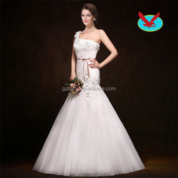 Sexy Back Open Lace Mermaid Bride Dresses Wedding Gowns Long