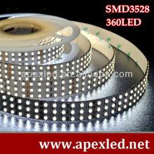 3 row / Three line led strip smd 3528-360leds per meter 24v HOLLOYWOOD LED LIGHT