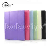 KAKU manufacture PU leather smart cover for apple ipad 2 3 4 5 air with 3 folder