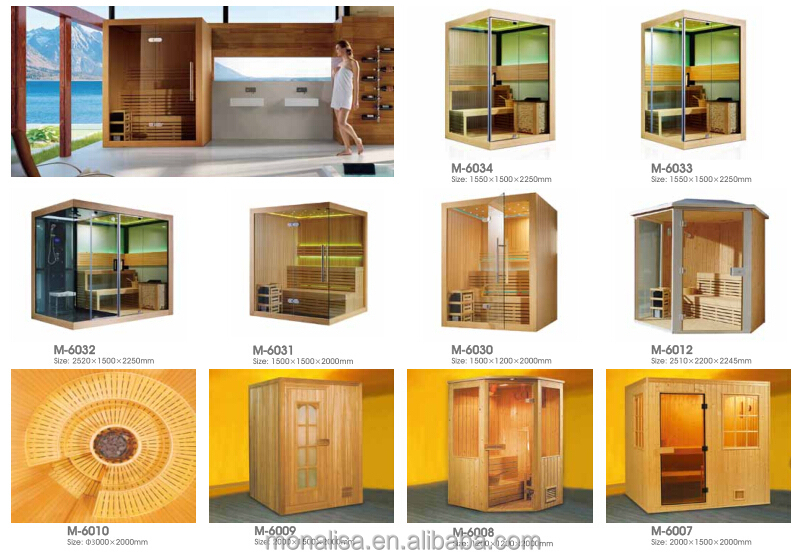 Newest portable Sauna with Steam Room,Cedar/Whitewood,Monalisa,CE, RoHS, TUV
