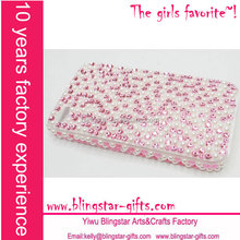 rhinestone pearls phone cover for iphone 5