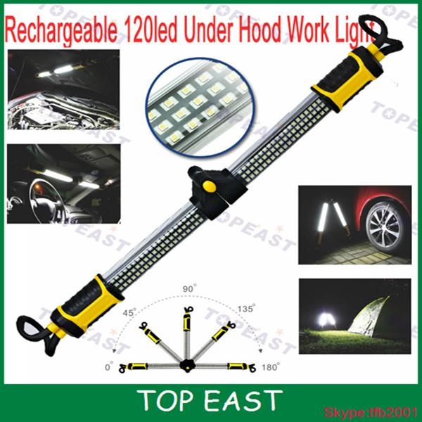 Toolpro Led Rechargeable Under Bonnet Worklight: 2015 New Rechargeable 120led Under Hood Work Light For