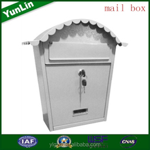 2015 hot sell OEM custom-made decorative american mailbox put antique wooden magazine rack