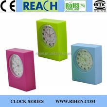 Hot Sale Square Promotion Home Decor Alarm Table Clocks for Desktop
