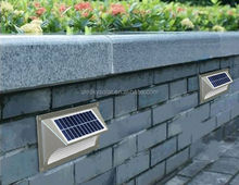 Shell Aluminum IP65 Portable Step Wall Solar Outdoor Led Light For Stairs