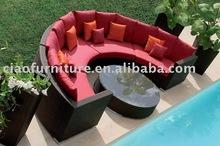 fashion wicker garden sofa U sharp sofa