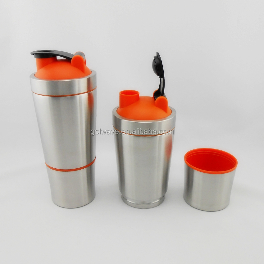 304 stainless steel shaker bottles 700 200ml metal protein shaker