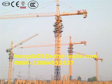 China hydraulic 6t tower crane price QTZ63(5810) mobile type topless one Jib length 58m, 6t