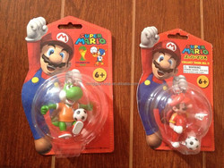 2014 New Arrival Nintendo Super Mario Keychain Figure with football