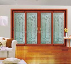 teak and knotty pine wood door frame glass insert solid wood door