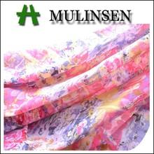 Mulinsen textile cotton fantasy printed voile fabric