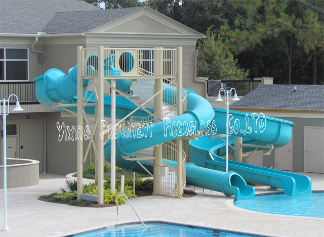 Private swimming pool fiberglass water slide for home for Piscine orsole