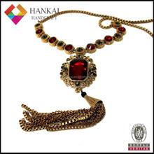 New design antique tassel pendant necklace jewelry