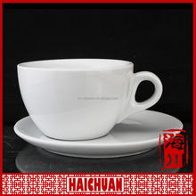 90ml 180ml white porcelain cup and saucer with full design light weight cup