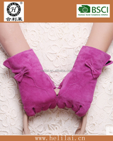 2015 fashionable ladies suede leather gloves