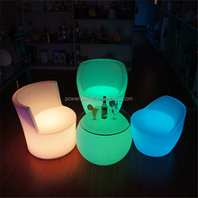 Rechargeable led illuminated waterproof glowing outdoor or indoor lounge led chair
