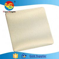 2015 Hot Sell Hot Quality Table Top Colorful 304 Brushed Nickel Sheet Metal