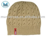 wholesale Knited Beanie Winter Hat with Woven Label
