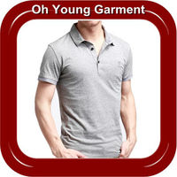 2013 hot selling custom new design men's cotton plain blank grey embroidered short sleeve polo shirt with high quality