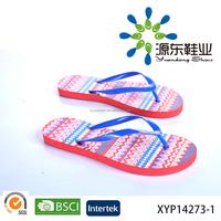 Wholesale Cheap comfortable women flat flipflop Rubber strap lady PE slipper
